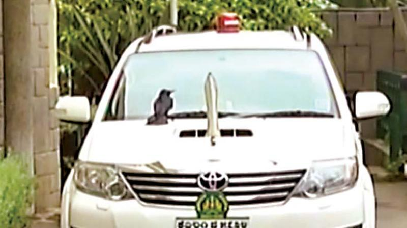 This Toyota Fortuner was used by Siddaramaiah when he was Chief Minister.  (Photo: DC)