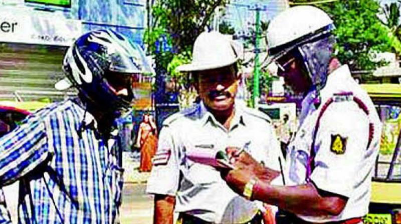 According to traffic officials a total 4,57,195 points were registered and 4,26,891 cases booked during the year.  (Representational Image)