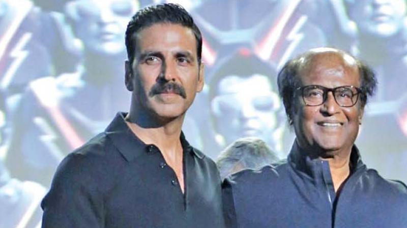 Rajinikanth, Akshay promote 2.0 in Hyderabad