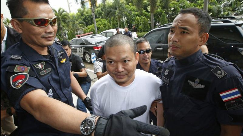 Wiraphon was convicted of money laundering, fraud and violating the Computer Crime Act for raising funds online, a Bangkok court official said. (Photo: AP)
