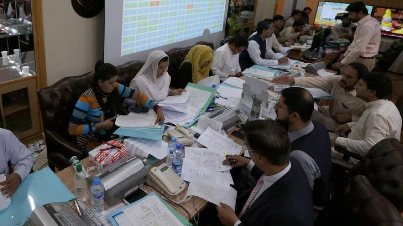 The ECP uploaded a letter on its website in which the presiding officer of polling station number 45 in Washuk district has made the claim. (Photo: AP)