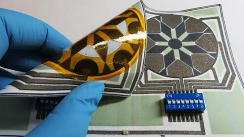 In testing the saliva-powered battery, the team was able to achieve a power density of a few microwatts per square centimeter, (Credit: Binghamton University)