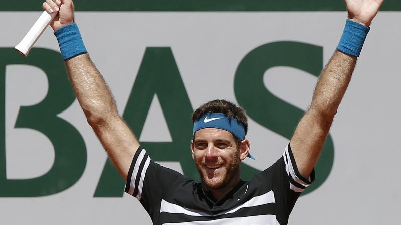 Del Potro wept courtside after downing third seed Marin Cilic 7-6 (7/5), 5-7, 6-3, 7-5. (Photo: AP)