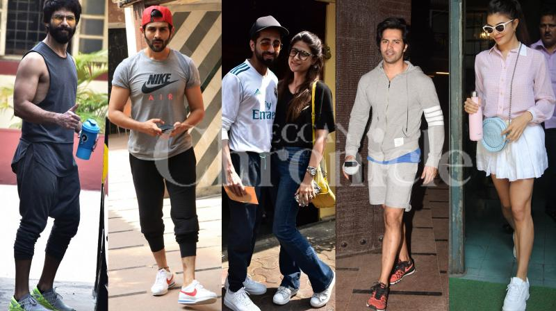 Bollywood stars Shahid Kapoor, Varun Dhawan were spotted at the gym, on the other hand Jacqueline Fernandez, Ayushmann Khurran and wife Tahira Kashyap, Kartik Aaryan, Iulia Vantur and others were spotted in the city and Aditya Roy Kapur, Kiara Advani flaunt their perfect airport look. Check out latest Bollywood pictures here. (Pictures: Viral Bhayani)
