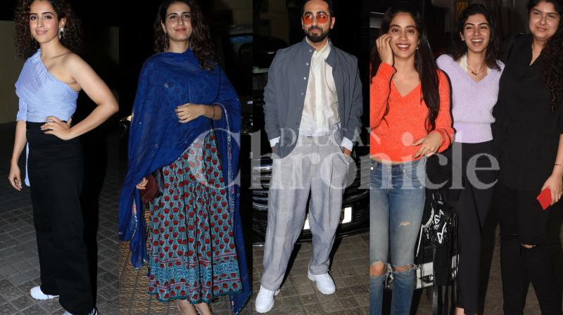 Arjun Kapoor and Parineeti Chopra's Namaste England and Ayushmann Khurrana and Sanya Malhotra's film Badhaai Ho are set to clash at box-office from today. The makers of both films hosted a special screening of their respective films to industry friends last night. Check out the pictures here. (Photos: Viral Bhayani)