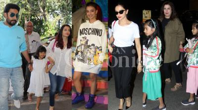 Aishwarya, Abhishek Bachchan were seen walking hand-in-hand with Aaradhya and Deepika Padukone, Radhika Pate, Huma Qureshi and other B-Town stars were clicked in the city. Check out latest and exclusive pictures of Bollywood celebs right here. (Photos: Viral Bhayani)