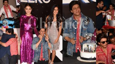 Aanand L Rai directorial Zero's trailer was revealed at a launch event in Mumbai on Friday, which also marks Shah Rukh Khan's birthday. Check out the exclusive pictures from the event. (Photos: Viral Bhayani)
