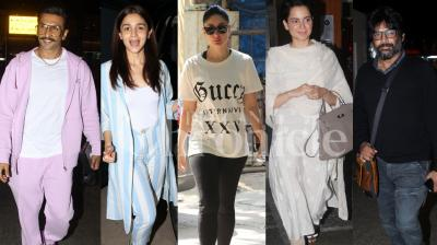 Ranveer Singh, Alia Bhatt, Kangana Ranaut, Kareena Kapoor Khan, R.Madhavan and many other Bollywood stars were spotted at various spots around town. See pictures here. (Credit: Viral Bhayani)