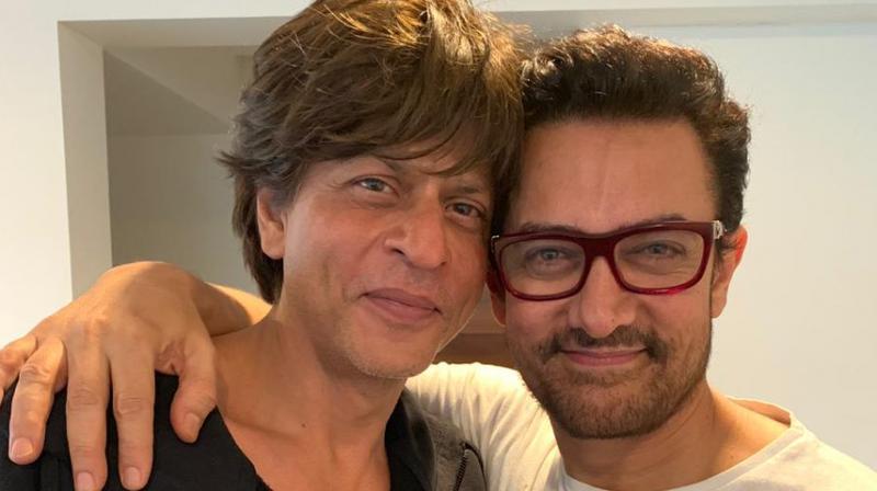 Aamir Khan and Shah Rukh Khan after Aamir saw Zero trailer.