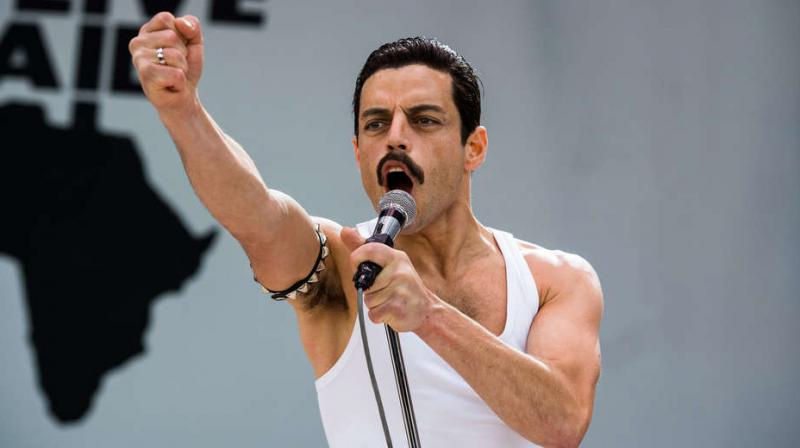 Rami Malek as Freddie Mercury in the film 'Bohemian Rhapsody'.