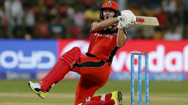 While AB could not score many in his last game against Rising Pune Supergiant in Bengaluru as he was stumped by MS Dhoni off Imran Tahir's bowling, he has, thus far, scored 137 runs in 3 games, with an unbeaten 89 against Glenn Maxwell-led Kings XI Punjab. (Photo: AP)