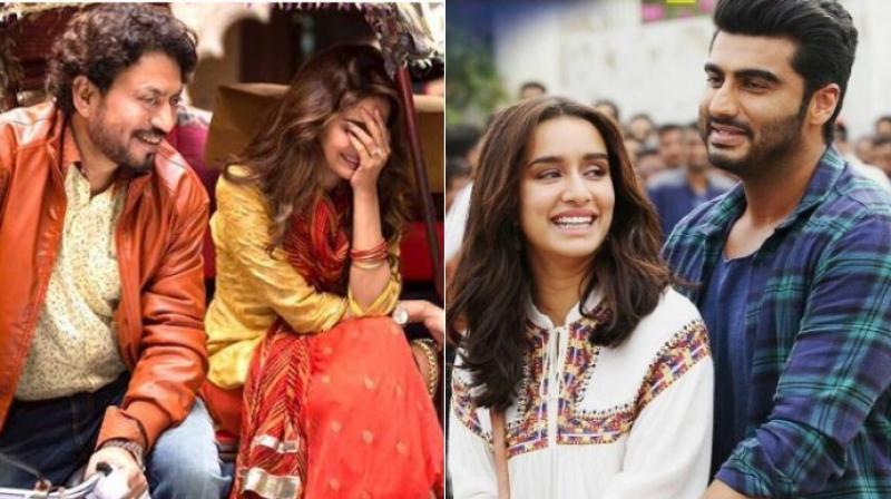 Stills from the film 'Hindi Medium' and 'Half Girlfriend'.