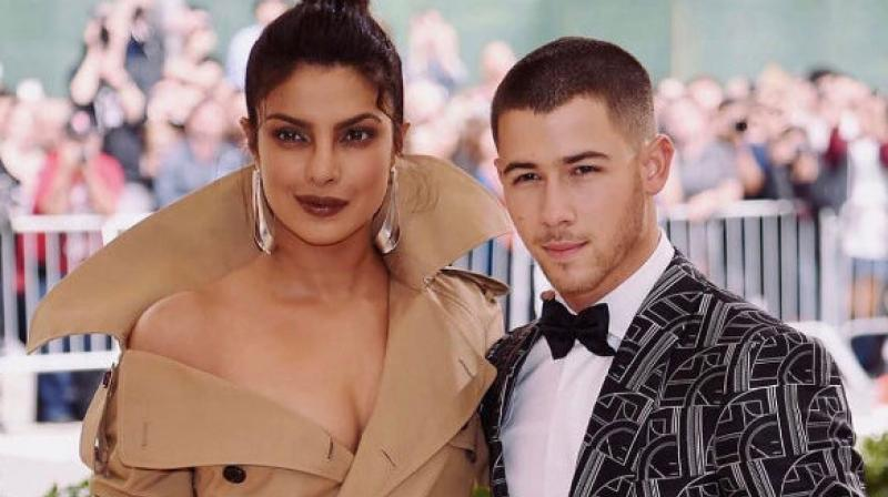 Priyanka Chopra with Nick Jonas at the Met Gala, 2017. (Picture: Instagram/nickjonas)