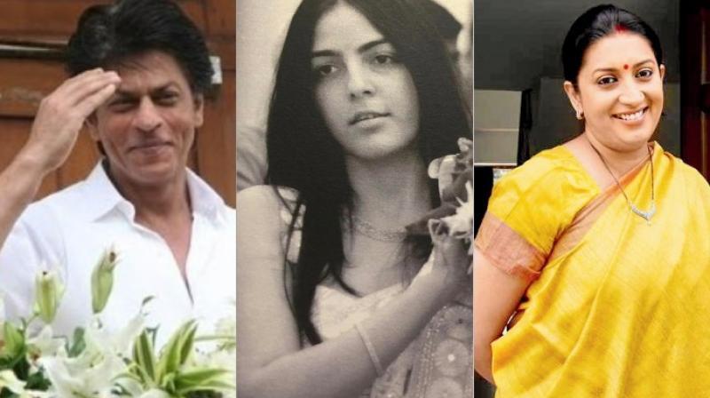 Shah Rukh Khan, Shanelle Irani and Smriti Irani.