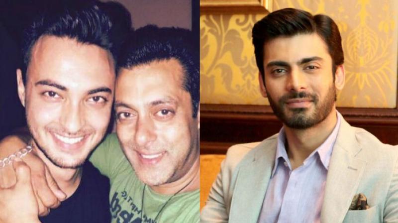 Ayush Sharma with Salman Khan and Fawad Khan.