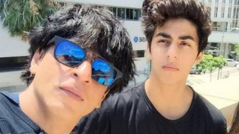 Shah Rukh Khan with his elder son Aryan Khan.
