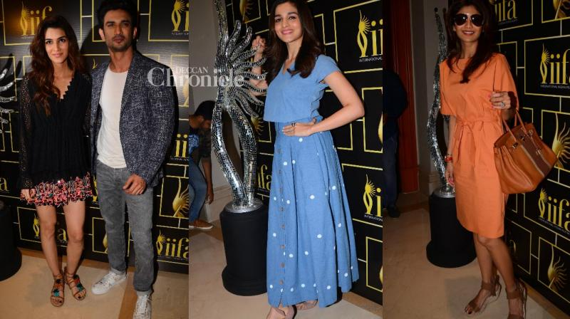 Numerous Bollywood stars voted at the IIFA Awards voting weekend event 2017 held in Mumbai on Sunday. (Photo: Viral Bhayani)