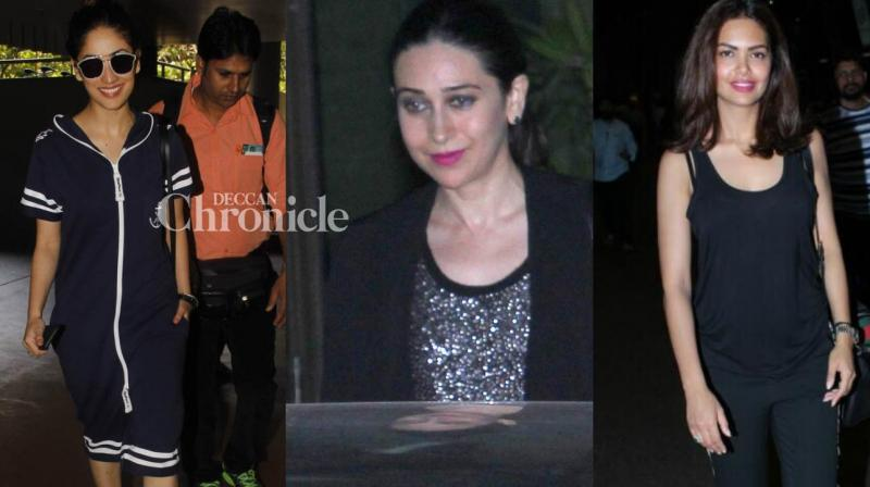 While Karisma Kapoor was spotted with her rumoured boyfriend, other stars were snapped at Farah Khan's bash, airport and various other locations in Mumbai on Sunday. (Photo: Viral Bhayani)