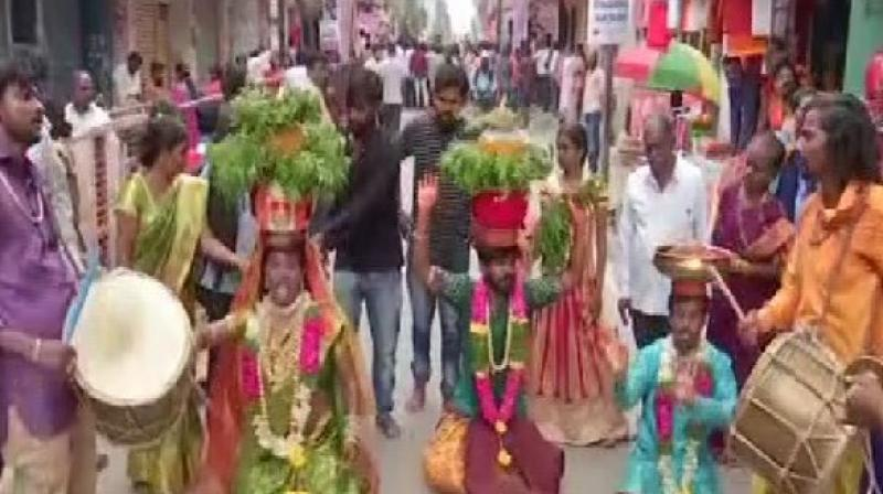 Special prayers are performed for the goddess on the first and last day of the festival. (Photo: ANI)