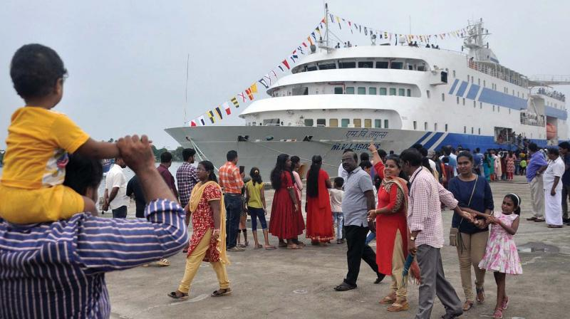 Helipad to facilitate transport of cruise liner tourists to Nedumbassery, Kovalam and hill spots.