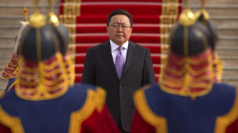 Current Mongolian President Tsakhiagiin Elbegdor (Photo: AP)