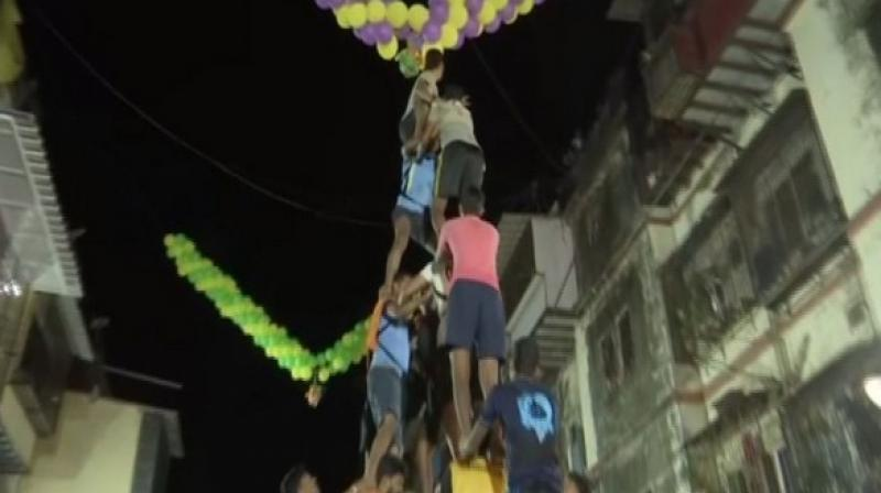The Bombay high court had fixed the height of human pyramids to be not more than 20 feet. (Photo: ANI)