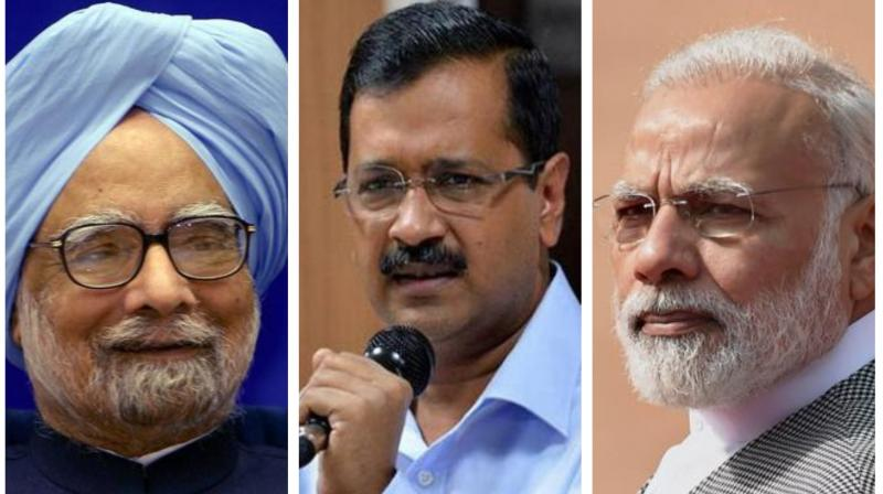 Calling him a 'good man', Kejriwal said it was Singh who shielded India from the global economic recession in 2008 by taking a series of timely measures. (Photo: PTI)
