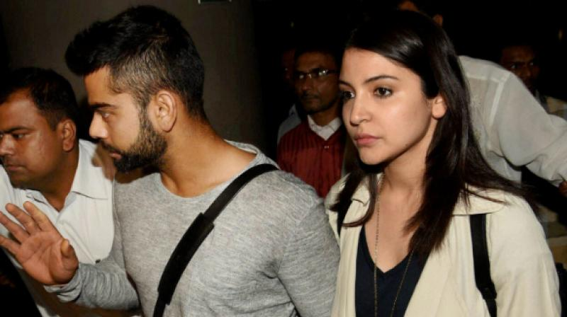 Anuskha joins husband Virat for MS Dhoni's birthday bash