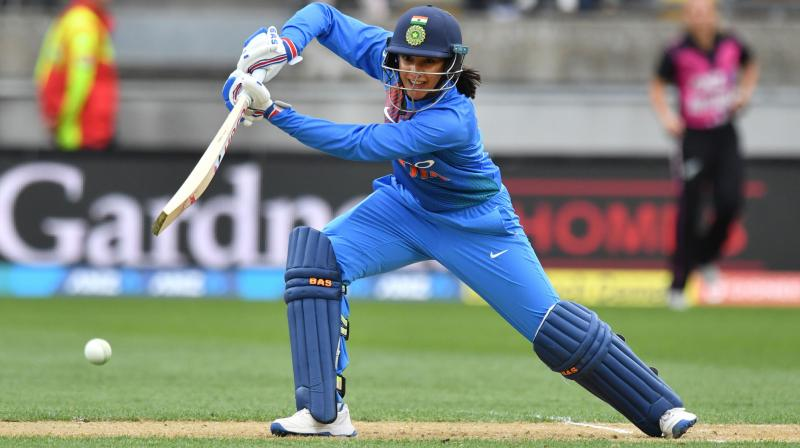 Mandhana said her next aim was to carry on batting till the end of the innings. (Photo: AFP)