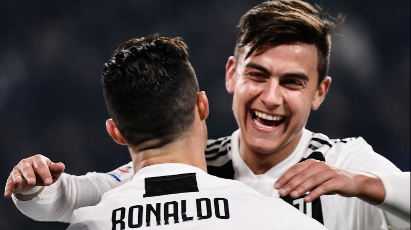 Ronaldo set up Dybala to fire in the first goal after just six minutes in Turin as the Argentina forward, who has been overshadowed since the arrival of the former Real Madrid player, scored his first league goal since November 3. (Photo: AFP)