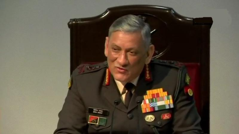 Commenting on the situation in Jammu Kashmir, the Army Chief said, 'It is necessary for the people of Jammu Kashmir to understand that what is happening there is for them only'. (Photo: Twitter | ANI)