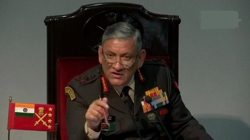 Army chief General Bipin Rawat addressed hi annual press conference in New Delhi. (Photo: Twitter | ANI)