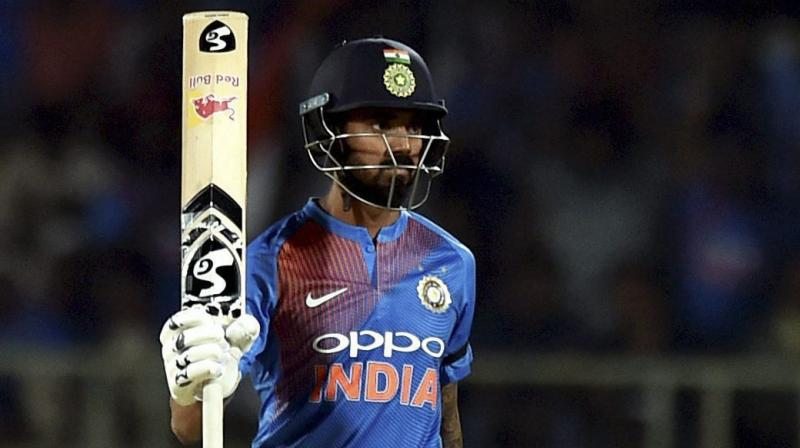 KL Rahul's century in Tuesday's warm-up match against Bangladesh suggested he could be the answer to India's search for a reliable number four batsman. (Photo:PTI)
