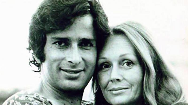Shashi Kapoor with wife Jennifer