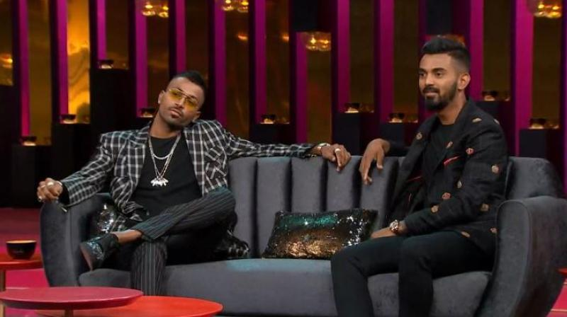"""Pandya and Rahul were provisionally suspended by the Committee of Administrators (COA) for their loose talk on chat show """"Koffee With Karan"""" before the ban was lifted pending inquiry by the Ombudsman. (Photo: Screengrab)"""