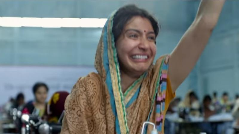 The scene from Sui Dhaga from which Anushka's expression went viral. (Youtube Screengrab)