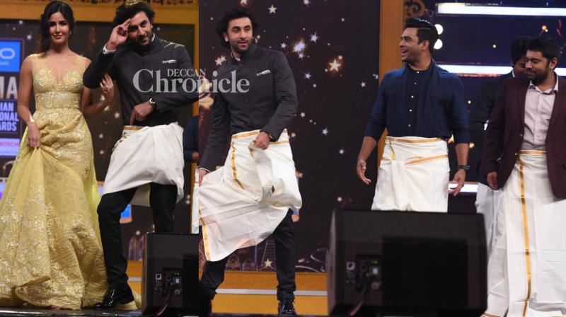 Ranbir Kapoor and Katrina Kaif were the star attractions at the second day of the SIIMA Awards held in Abu Dhabi on Saturday. (Photo: Viral Bhayani)