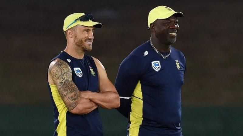 Just a day after Cricket South Africa (CSA) decided to sack former West Indian player and coach Ottis Gibson, current Proteas captain Faf du Plessis came out with a tweet stating that he liked working with Gibson. (Photo: AFP)