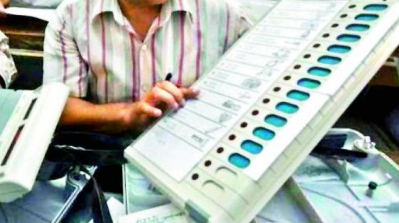 Many of the constituencies across the district reported problems with the working of EVMs and VVPATs. Even the mock polling was delayed at several constituencies because of this issue. (Representational image)