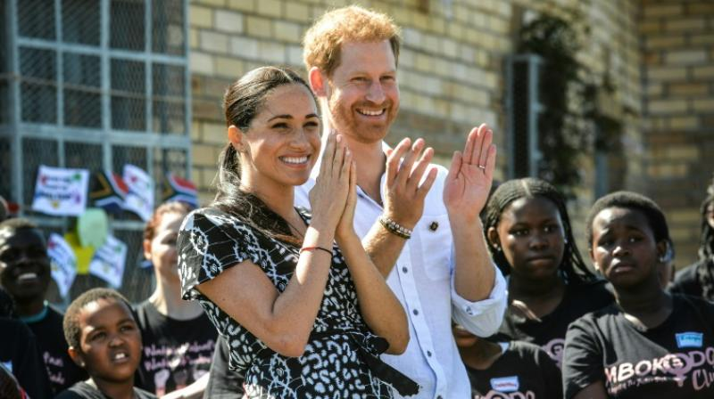 Prince Harry, Meghan and baby Archie landed by commercial flight from London before heading to Nyanga. (Photo: AFP)