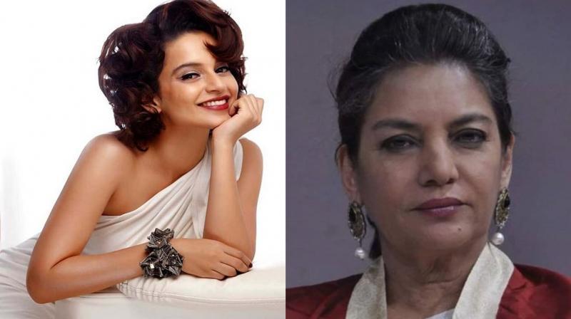 Kangana Ranaut and Shabana Azmi. (Photo: Instagram)