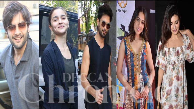 Bollywood celebrities like Alia Bhatt, Jacqueline Fernandez, Sara Ali Khan, Parineeti Chopra, Ali Fazal and others were snapped in the city. Check out the pictures here. (Photos: Viral Bhayani)