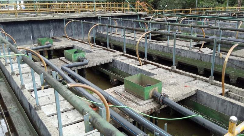 The sewage treatment plant at Sannidhanam.