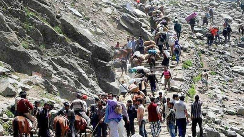 The officials have directed the intending pilgrims to consider the difficult climate and terrain in the high altitude region of the yatra and prepare themselves before embarking on the pilgrimage.  (Photo: PTI/File)