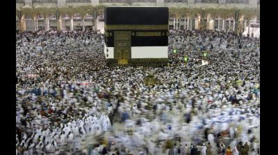 Muslim pilgrims circumambulate around the Kaaba, the cubic building at the Grand Mosque, ahead of the Hajj pilgrimage in the Muslim holy city of Mecca, Saudi Arabia. The Hajj occurs once a year during the Islamic lunar month of Dhul-Hijja, the 12th and final month of the Islamic calendar year. (Photo: AP)