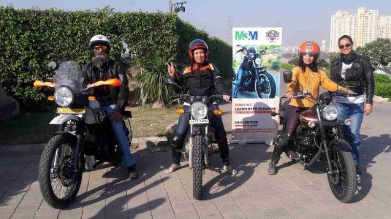 The EagleRider India academy wants to promote the love for riding in the capital and wants to make sure that female riders ride with confidence.