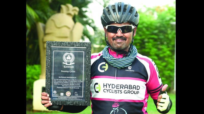 Prasad has now set his eyes on Cycling from Kashmir to Kanyakumari.