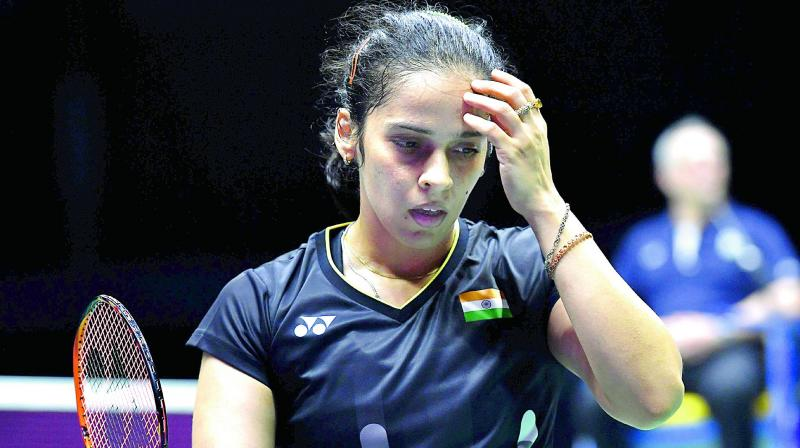 The 29-year-old Saina Nehwal, who had claimed the Indonesia Masters in January this year, lost 20-22 21-23 to world no 16 Young after a 49-minute thrilling contest. (Photo: AFP)