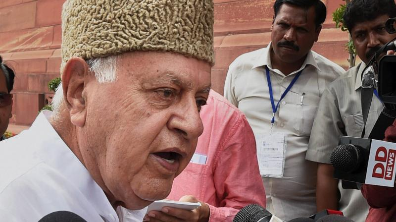 Former Jammu & Kashmir chief minister and National Conference president Farooq Abdullah. (Photo: PTI)