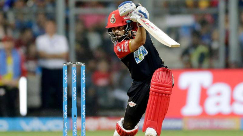 Virat Kohli's batting efforts went in vain as Royal Challengers Bangalore (RCB) were outclassed by Rohit Sharma-led Mumbai Indians (MI) in the 14th match of the ongoing Indian Premier League (IPL) at Wankhede Stadium on Tuesday. (Photo: AP)
